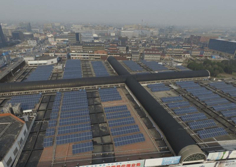浙江海寧工商業屋頂太陽能發電項目