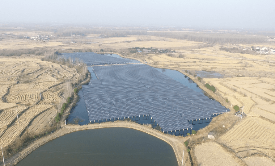 安徽恆瑞漁光互補太陽能發電項目