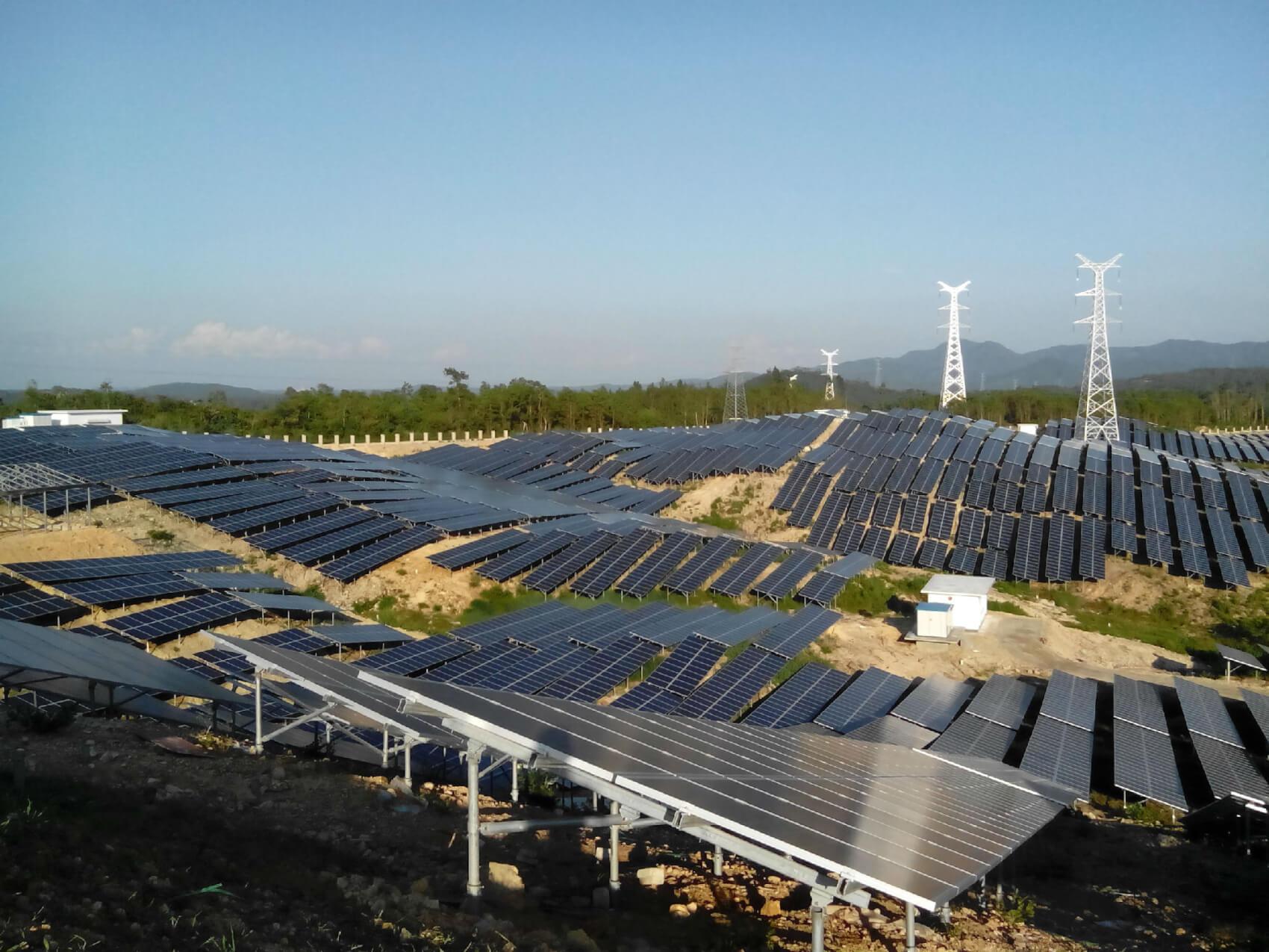 海南屯昌山丘電站太陽能發電項目