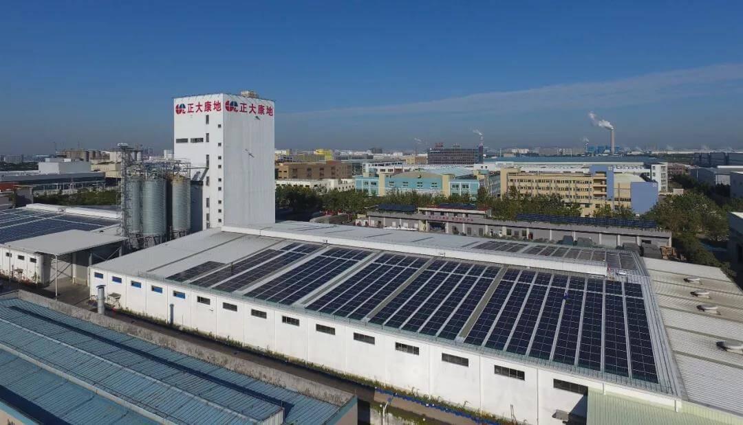 東莞正大康地集團廠房屋頂建設太陽能電站