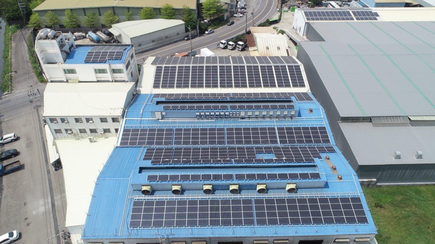 台南市鋁鑄造工廠屋頂型太陽能發電項目